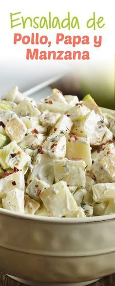 La ensalada de pollo, papa, y manzana está riquísima. Es una ensalada fresca, jugosa y muy saludable. Es una preparación que te puede sacar de un apuro, por lo fácil y rápido que es prepararla.