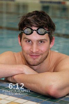 Model. swimmer. portrait. pool.
