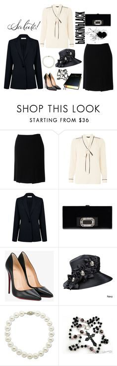 """""""Funeral Outfit"""" by stephaniefb ❤ liked on Polyvore featuring Chanel, Dorothy Perkins, Atea Oceanie, Christian Louboutin, Giovanna Signature, Lord & Taylor and WALL"""