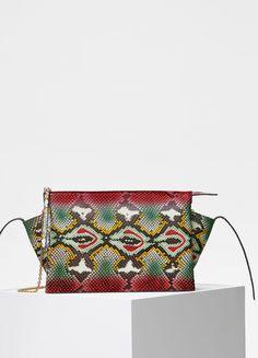 d9fd1cb21807 Tri-Fold Clutch on Chain Bag in Painted Python - Céline Celine Handbags