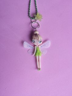 Hey, I found this really awesome Etsy listing at https://www.etsy.com/listing/209992005/tinker-bell-polymer-clay-necklace-fimo