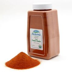 Our JAR SIZE contains a FULL QUART (4 Cups) of fresh tasting Organic Tomato Powder for Sale! 🍅  Excellent for backpackers, RV'ers, or for your cupboard!  What could be easier than using our 24 oz. Tomato Powder processed from harvest red tomatoes?  Stir tomato powder into water to make a tomato sauce.  For tomato paste, just add more powder until you get the consistency you desire. Dehydrated Vegetables, Red Tomato, Tomato Paste, Consistency, Cupboard, Tomatoes, Harvest, Powder, Cups