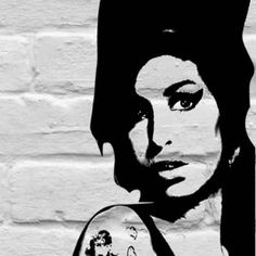 street art outside of her Camden home after death