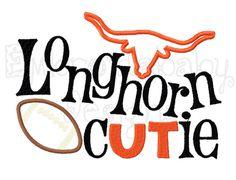 Texas Longhorns Applique Embroidery Design, Longhorns  Football Cutie Embroidery Design, 5x7,Texas Baby Boutique Embroidery, Appliques