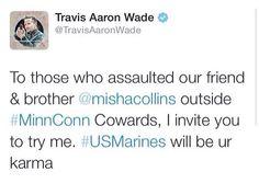 Travis Aaron Wade plays Cole by the way #WeLoveYouMisha