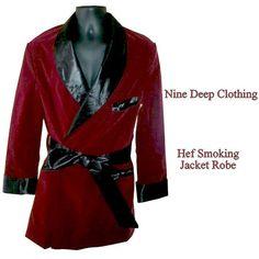 Mens 3XL Size 50  . Smoking Jacket Robe .Gothic Vampire . Dracula Costume . Vampire  * Made to Order * Adult Halloween Costume Hef costume