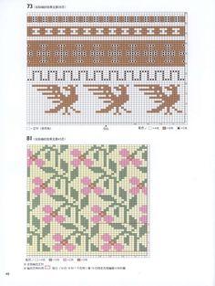 "Photo from album ""Knitting 150 Designs"" on Yandex. Knitting Books, Knitting Charts, Knitting Stitches, Knitting Yarn, Knitting Patterns, Crochet Patterns, Cross Stitch Embroidery, Embroidery Patterns, Cross Stitch Patterns"