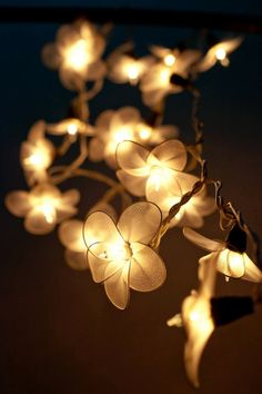 20 Garland Flower Light White String Lights For Bedroom Living Room Patio Indoor Christmas Decorative Fairy