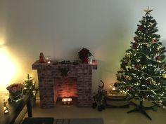 My kind of Christmas! My handmade fireplace :)