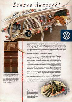 1952 VW Deluxe interior Dutch brochure