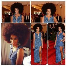 Solange sports giant afro at met gala. I will one day wear my hair this big in public.