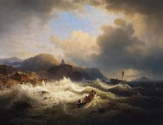 The Athenaeum - In Rough Waters (Andreas Achenbach - )