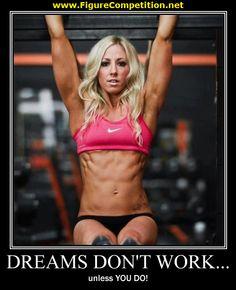 Motivational Figure Competition Pics | Dreams Don't Work...