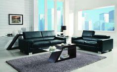 Homelegance 9603BLK-2 Vernon Collection Color Black All Bonded Leather