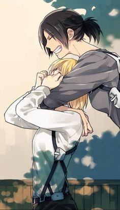 Abraço......mais não tapa o nariz da menina nao