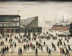 Αυτός ο πίνακας ειναι ένα έργο του L. S. Lowry. Δημιοργήθηκε το 1928 και ονομαζεται Going to the Match. Σε αυτόν μπορούμε να δούμε έναν τεράστιο πληθυσμό εργαζόμενων ανθρώπων, ο οποίος ''τρέχει''για να πάει στη δουλεία του. Τους βλέπουμε να μπαίνουν όλοι σε ένα εργοστάσιο και ο καλλιτέχνης όλο αυτό το χαρακτηρίζει ως έναν μεγάλο αγώνα. Οι συνθήκες εργασίας λογικά είναι άθλιες.