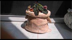 Kumaşla Beton Saksı Yapımı-3 & Farklı Yeni bir Metod