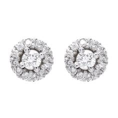 Justice Jewelry Collection Classic Diamond Stud Earrings #justicejewelers
