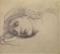 "cavetocanvas: ""Edward Burne-Jones, Study of a Sleeping Maiden for 'The Garden Court', c. 1882-85 """