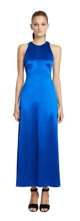 Jill jill stuart new arrivals ss17 now available for Prom, maid of honour, wedding season, grad,engagement, shower ... blue midi halter silk gown robe longue robes