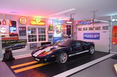 Racedeck Garage and Shed Traditional with Costco Epoxy Floor Tile Ford Gt Garage Garage Cabinets Rubber Garage Flooring, Garage Flooring Options, Garage Floor Tiles, Epoxy Floor, Diy Flooring, Flooring Ideas, Garage Shop, Diy Garage, Garage Doors
