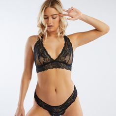319ef2d19f399 Because sometimes lace is more. Our Lace Bralette features a plunging  neckline