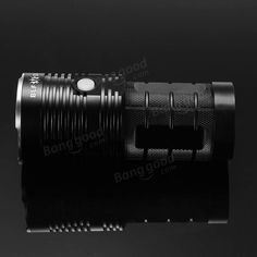 BLF Q8 4x XP-L 5000LM Professional Multiple Operation Procedure Super Bright LED Flashlight Sale - Banggood.com Strip Lighting, Outdoor Lighting, Bright Led Flashlight, Holiday Lights, Led Strip, Wall Lights, Bulb, Appliques, Exterior Lighting
