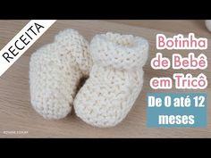 Botinha de Tricô para Bebê em Tricô #55 - Passo a Passo por Rosiene - YouTube