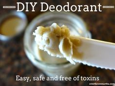Easy #DIY Deodorant with Bentonite Clay, coconut oil and baking soda