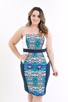 Plus Size Mykonos Midi Dress