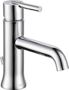 Delta Faucet Trinsic™ Single-Handle Lavatory Faucet with Lever Handles Polished Chrome D559LFMPU