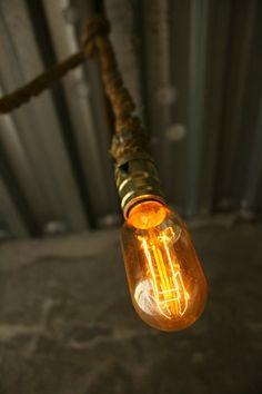 Chandelier Lighting Industrial Light Hanging Light Hanging Lamp - Rustic Rope Design