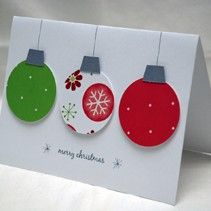 Lovely simple design on a handmade Christmas card - Click image to find more DIY & Crafts Pinterest pins