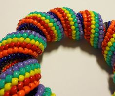 Green And Purple, Teal Blue, Rio Carnival, Colorful Bracelets, Kandi, Seed Beads, Bangles, Turquoise, Origami