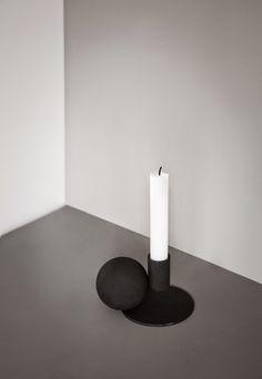 Optical candleholder by Menu