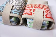 Diaper pouch-Sewing for Baby: 20 Great Gear Tutorials and Patterns | Lil Blue Boo