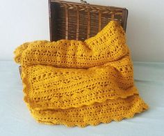 Crochet Blanket Pattern Mustard fields Easy