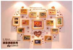 Đặt hàng Bộ khung hình trái tim treo tường phong cách ấn tượng xịn