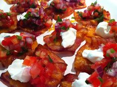 Bacon Nachos. Great for low carb dieters.