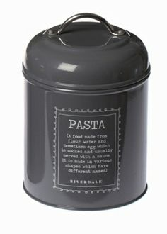 Pojemnik Pasta grey - BelleMaison.pl Rice Cooker, Cereal, Container, Kitchen Appliances, Grey, Food, Diy Kitchen Appliances, Gray, Home Appliances