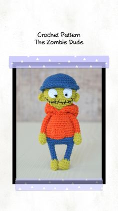 This pattern is easy to follow with step-by-step instructions (17 pages with detailed instructions and 43 photos illustrating the process). Halloween Crochet Patterns, Crochet Toys Patterns, Amigurumi Patterns, Stuffed Toys Patterns, Crochet Dolls, Crochet Ideas, Single Crochet Stitch, Double Crochet, Handmade Ideas