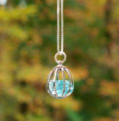 Mason Jar Necklace by bottledupdesigns via Etsy, $22.00