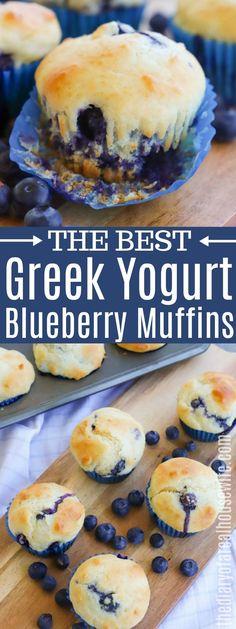 Blueberry Yogurt Muffins, Greek Yogurt Pancakes, Healthy Muffins, Blue Berry Muffins, Best Healthy Blueberry Muffin Recipe, Healthy Blueberry Desserts, Greek Yogurt Cookies, Blueberries Muffins, Greek Yogurt Dessert