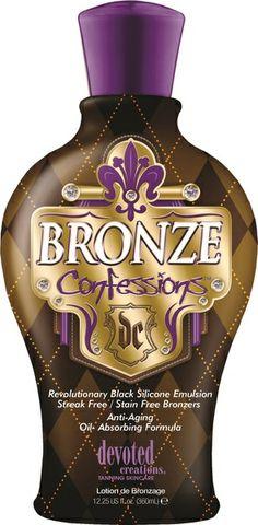 Devoted Creations Bronze Confessions™ Revolutionary Black Silicone Emulsion Bronzer.