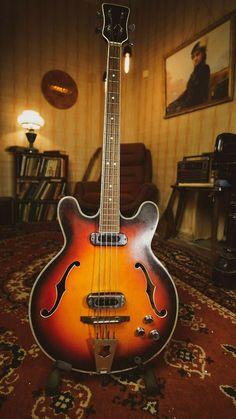 MUSIMA 1657B RARE Vintage Semi-acoustic Bass Guitar GDR DDR Germany USSR EB #Unbranded Semi Acoustic Guitar, Guitars, Germany, Music, Vintage, Ebay, Musica, Musik, Deutsch