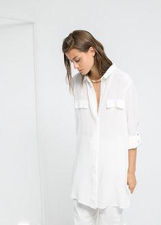 long blouse - Women   MANGO