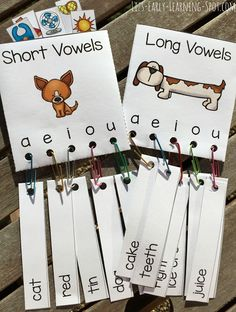 Vowel activities: FREE long & short vowel center.