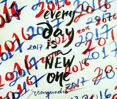 Every day is a new one (Todo dia é um novo dia). Não espere uma data específica para  fazer o que te faz feliz. Não espere a vontade de alguém se impor para fazer o que te faz feliz. Não espere o calendário os astros a mídia a história o que quer que seja para fazer o que te faz feliz. Não espere. Vai fazendo! Ainda que seja um pouquinho por dia.  Faça o que for do mínimo instante ao resto dos dias que você acha que tem com o intuito de ser feliz. E ponto. Você vai conseguir? Não sei.  Entra…
