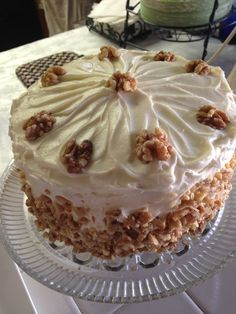 This cake was the best carrot cake I have ever made, it is Trisha Yearwood's recipe found the recipe on Live with Kelly and Michael ABC TV show