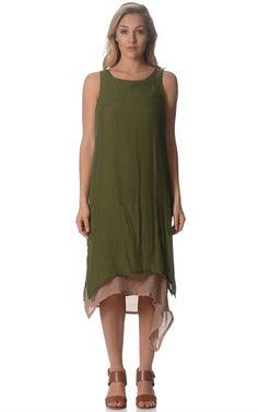 Nzsale - Khaki Linen Dress